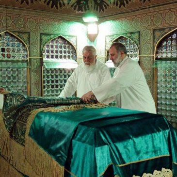 نماهنگی از مراسم غبار روبی امام رضا علیه السلام در آستانه سال جدید